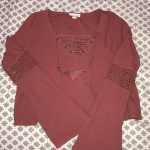 burgundy top — TAKING OFFERS